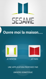 Sésame Application mobile pour la domotique Android